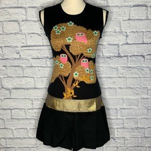 NWT CUSTO BARCELONA Longsy Owl Dress